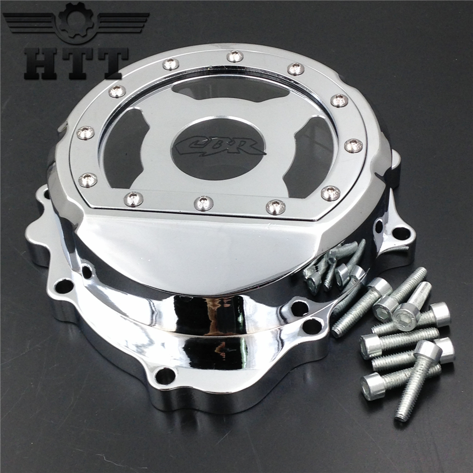 Aftermarket free shipping motorcycle parts Billet Engine Stator cover for Honda CBR600RR F5 2007-2012 CHROME left aftermarket free shipping motorcycle parts engine stator cover for suzuki hayabusa gsx 1300r 1999 2015 left side chrome