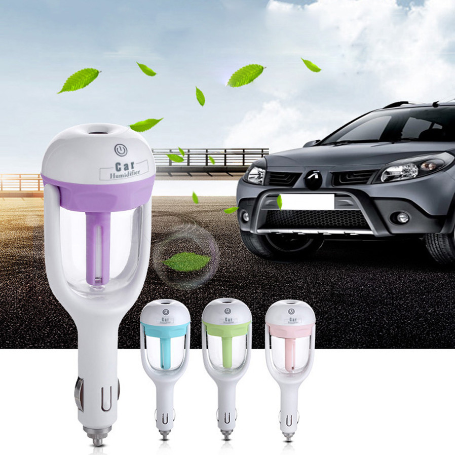 1 pc 12V Car air freshener mini Car Humidifier Air Purifier Aroma and Essential oil diffuser car Aromatherapy Mist Maker Fogger06