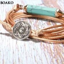 Hot Sale Water Drop Zircon Natural stone Bracelet Charms Boho Wrap Gems Stone Jewellery for Women Fashion style bracelet A35