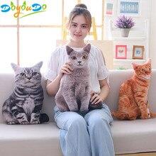 1 шт. 50 см мягкие 3D моделирование мягкие игрушки для кошек диван подушка милые плюшевые животные кошки куклы игрушки подарки
