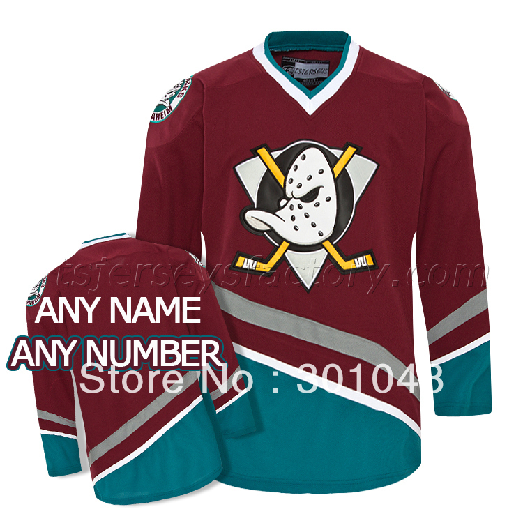 Anaheim Mighty Ducks Maroon Hockey Jersey Customized To Any Name And  Number-in Hockey Jerseys from Sports   Entertainment on Aliexpress.com  b467c220fa1