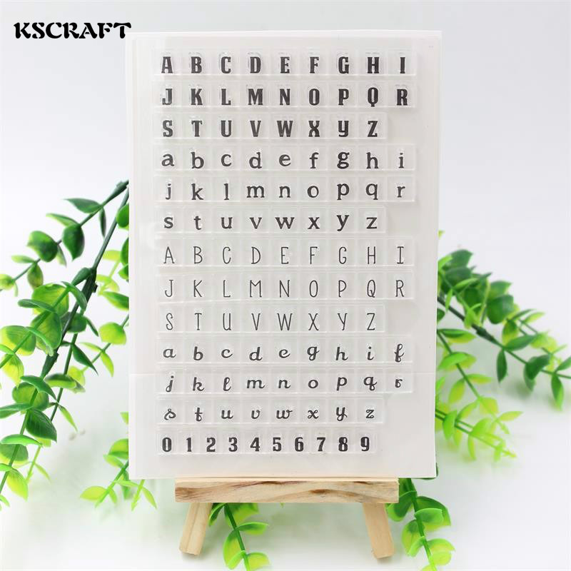 KSCRAFT Alphabets Transparent Clear Silicone Stamps for DIY Scrapbooking/Card Making/Kids Fun Decoration Supplies kscraft butterfly and insects transparent clear silicone stamps for diy scrapbooking card making kids fun decoration supplies