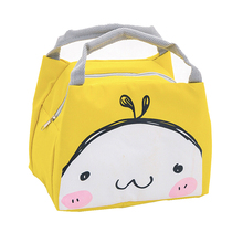 Cute Pattern Lunch Box Bag Insulation Package Gourmet Toast Blue Home Storage Organization Storage Bags цена 2017