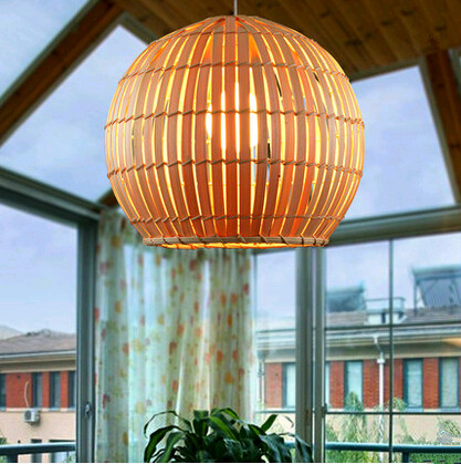 New Chinese style hand knitting bamboo art Pendant Lights Vintage elegant lamp for tearoom&courtyard&corridor&agritainment DD006 new arrival modern chinese style bamboo wool lamps rustic bamboo pendant light 3015 free shipping