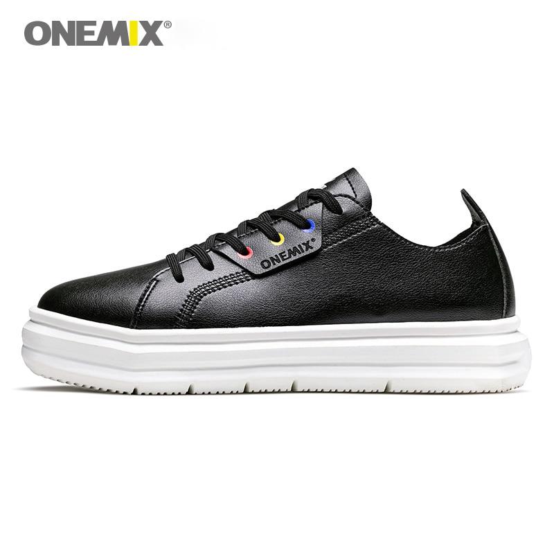 ONEMIX/Мужская обувь для скейтбординга, легкие крутые женские кроссовки из мягкой кожи, легкая дизайнерская уличная Мужская обувь для прогуло...