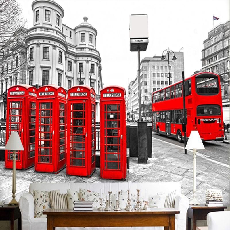 Buy custom mural photo wallpaper retro for Home wallpaper london