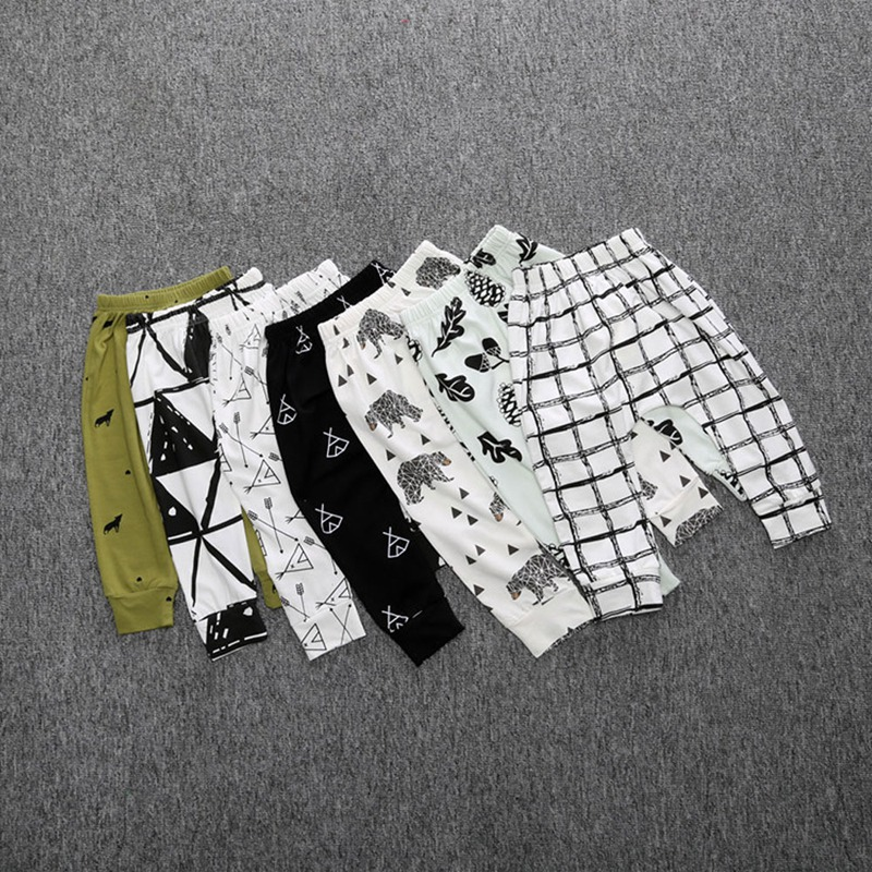 Pants Trousers Bottoms Toddler Autumn Girls Baby Infant Winter Harem Kids Cartoon Print