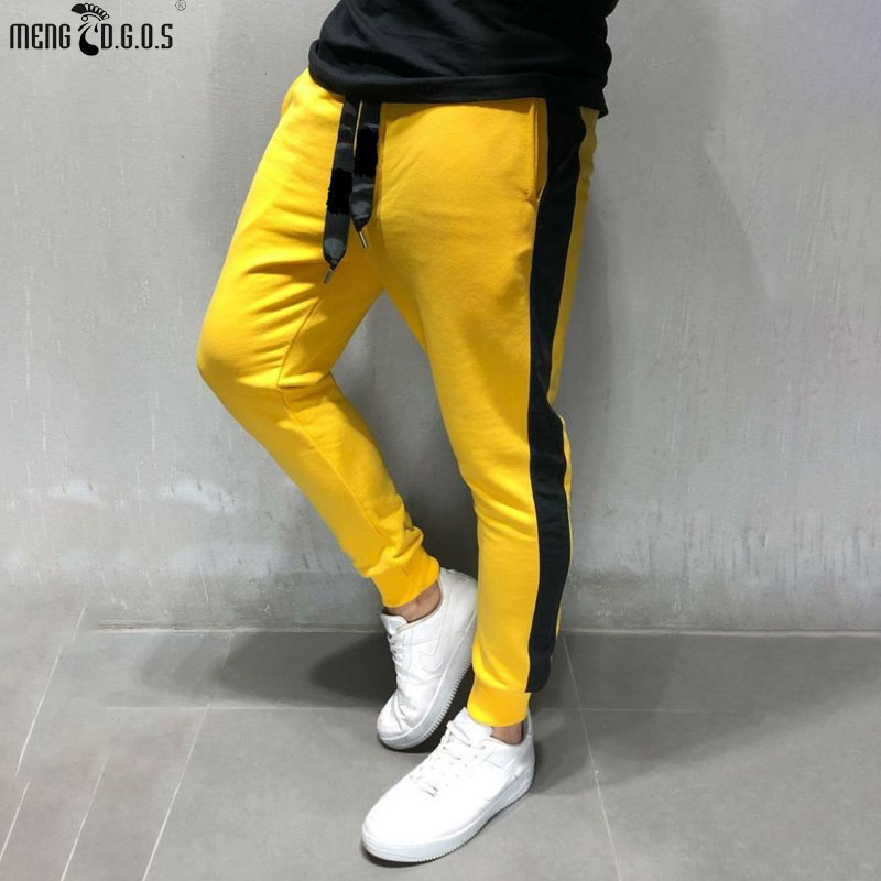 2019 Men's New Fashion Fitness Long Outdoor Casual Men's Trousers Jogger Fitness Pants Gyms Bodybuilding Men's Clothing