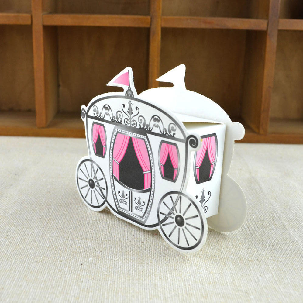 20pcs/lot Beautiful Fairy Tale Carriage Pumpkin White Sweet Box ...