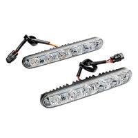 1 Pair Car Styling LED Car Daytime Light Turn Signal Indicators Lamp DRL DC 12V Auto