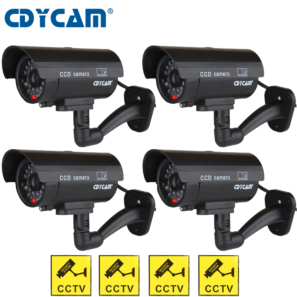 Cdycam 4pcs CCTV Camera Outdoor Video Surveillance
