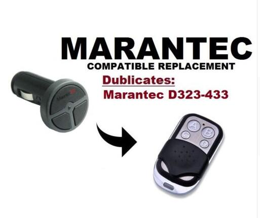 NEW Marantec Command 131 Garage Door/Gate Remote compatible Duplicator Remote duplicator 433.92mhz fixed code the ivory white european super suction wall mounted gate unique smoke door