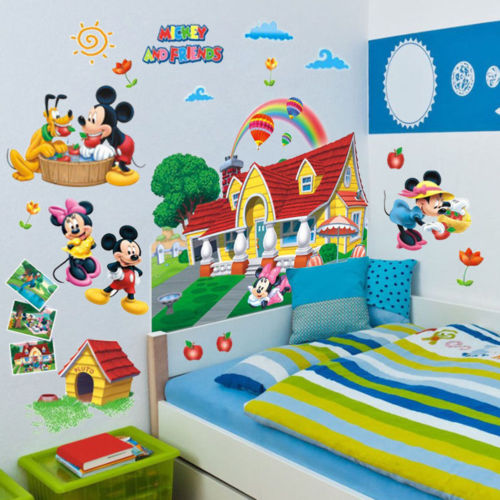 Pop 3D Mickey Mouse Clubhouse Wall Stickers Kids Bedroom ...