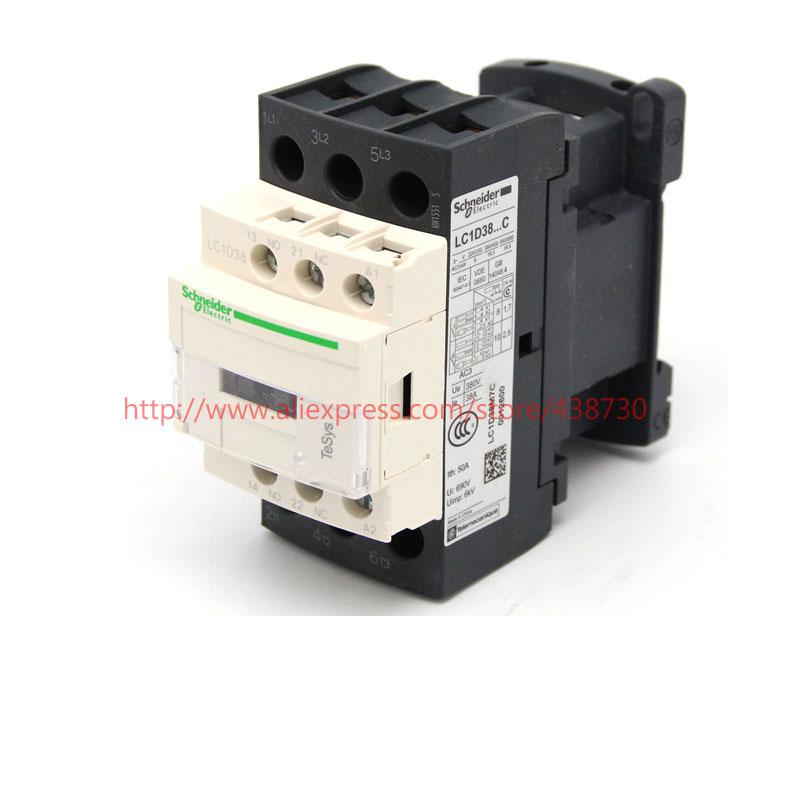 HTB1QI5wQVXXXXbcXFXXq6xXFXXX0 - 1pcs AC contactor 38A LC1D38M7C Q7C B7C AC220V 380V 36V 24V LC1D-38 50 / 60HZ free shipping