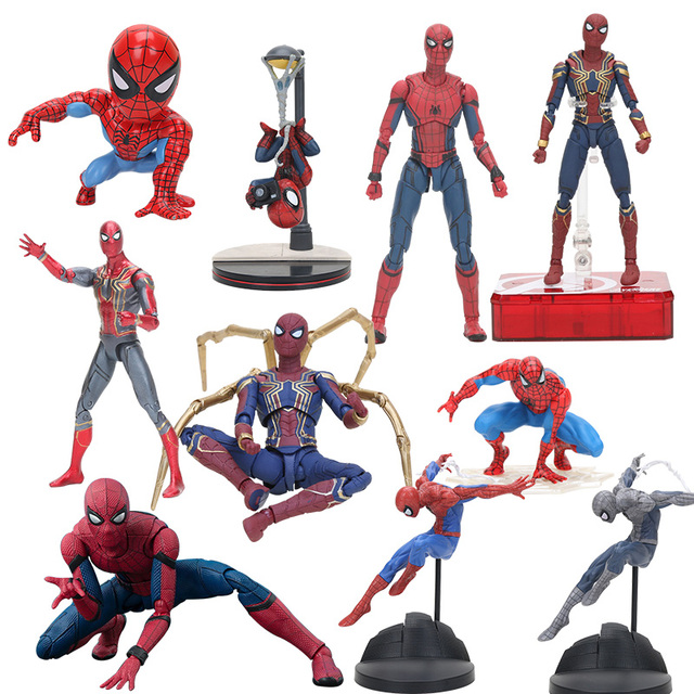 O Avenger infinito guerra Spider-man spiderman Superhero spider man criador x criador PVC Toy Action Figure