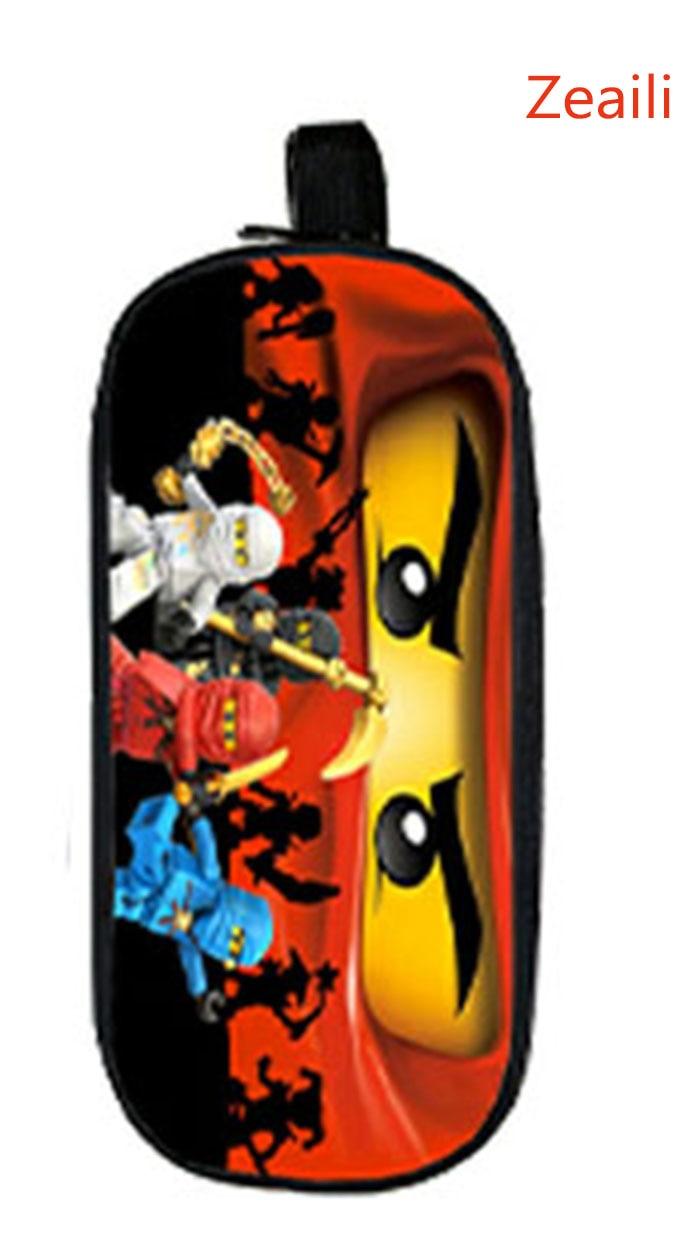2017 Lego Ninja Batman Star Wars Boy Girl Cartoon Pencil Case Bag School Pouches Children Student Pen Bag Kids Purse Wallet Gift uzumaki naruto uchiha sasuke boys girls cartoon pencil case bag school pouches children student pen bag kids purse wallet gift