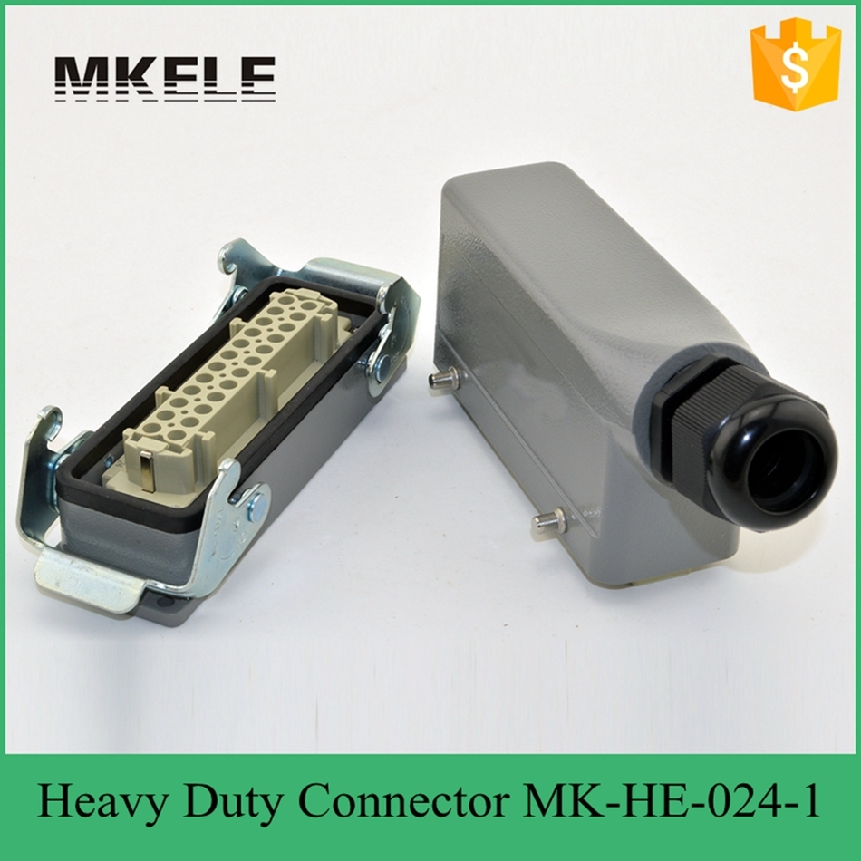24 PIN 16A Heavy Duty Connector MK-HE-024-1 he 024 4d 16a terminal block power crimp plug heavy duty connectors for spinning and packing machine