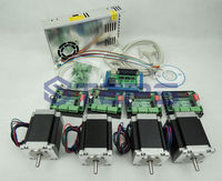 4 axis CNC kit ,nema23 3A 270 oz in motor+ CNC 4 Axis TB6560 Stepper motor driver+one Power supply