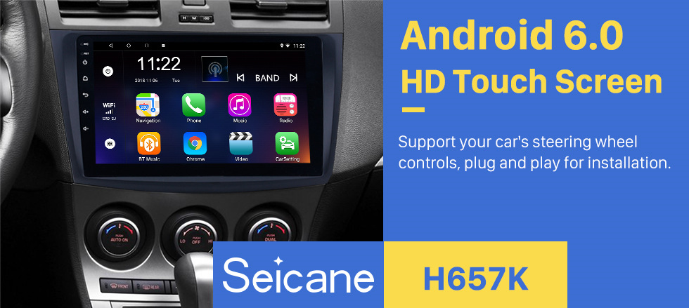 Seicane 9 inch Android 8 1/7 1 Car GPS for 2009 2010 2011 2012 MAZDA 3 Navi  Radio Stereo Unit Player support Mirror Link
