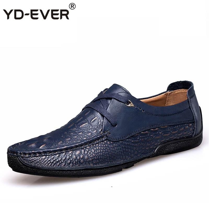 2017 Marke Casual Männlichen Schuhe Erwachsene Männer Krokodil Korn Echtes Leder Frühling Herbst Mode Luxus Qualität Schuhe Mann Wir Nehmen Kunden Als Unsere GöTter