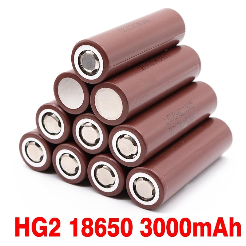 3000 mAh 3.7v li-ion batterie rechargeable pour LG HG2 18650 batterie au lithium 3.7V 3000 mAh utilisation Cigarette électronique