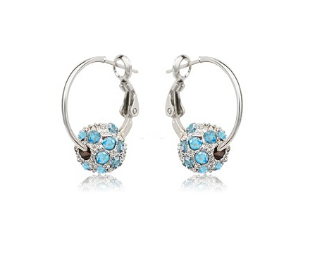 1284ebe28e4d7 US $1.46 25% OFF|Magic Ikery 2017 Gold Color Rhinestone Crystal Luxury  Round Hoop Earrings Wholesale Fashion Jewelry for women MKY4193-in Hoop ...
