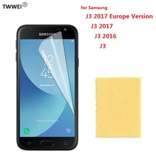 Clear Screen Protector for Samsung Galaxy J3 2016 2017 Protective Film on for Samsung J3 2017 2016 Screen Protector Film Foil pudini protective clear screen protector film guard for samsung galaxy express i8730 transparent