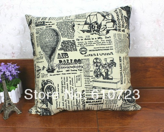 whole sales,Europe type restoring ancient ways cotton pillow cushion for lean on canvas cloth art sofa cushion(excluding core)