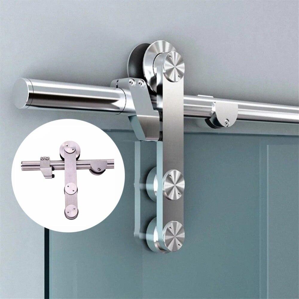 Нержавеющий стальной для раздвижной двери фурнитура для раздвижных дверей комплект для стеклянной душевой двери сарая двери оборудования