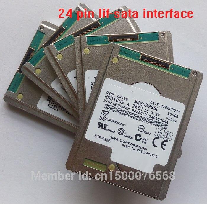 NEW 1.8inch SATA LIF 200GB Hard Drive MK2039GSL FOR gamera Handycam HDR-XR160E  air a1304 mc 233 Replace MK1639GSL HS12UHE