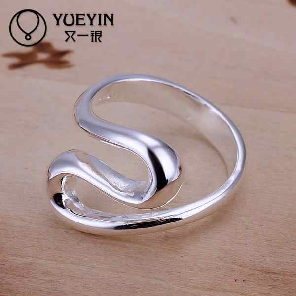 Europe New Fashion Personality Silver Plated Romantic Wedding Rings Don't Fade Hot Sale