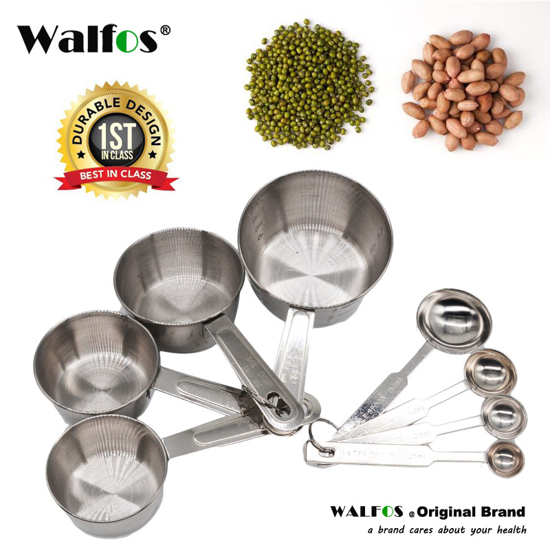 Metal Stainless Steel Measuring Cups And Spoons Set Kitchen Baking Gadget Hot