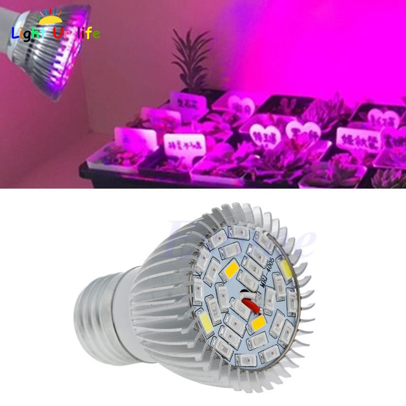 Full Spectrum 28W E27 LED Grow Light Kit Hydroponics Plant Veg Flower Lamp Blub-ThZ