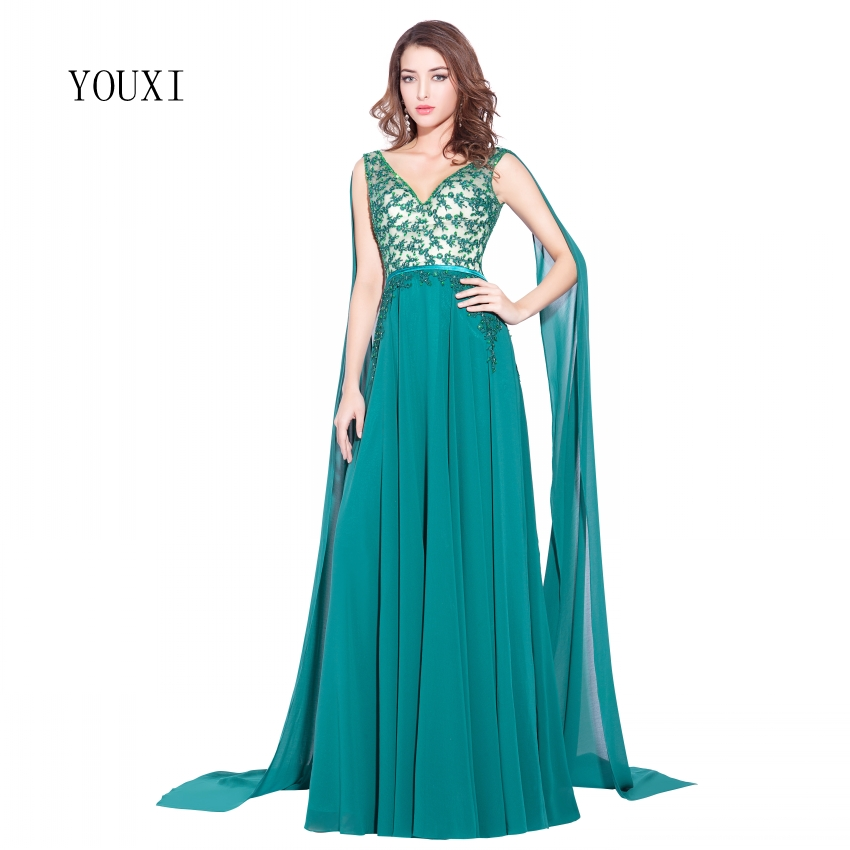 New Arrives Jade Evening Dresses 2017 Sleeveless Appliwues Beads ...