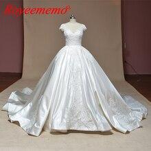 Royeememo 2019 Ball Gown wedding dress full cap sleeve gown