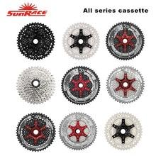 SunRace All Series Bike Cassettes 9 / 10 / 11 Speed MTB Bicycle Freewheel 11-40T / 11-46T / 11-50T CSMX80 CSMX3 CSMS3 Flywheel