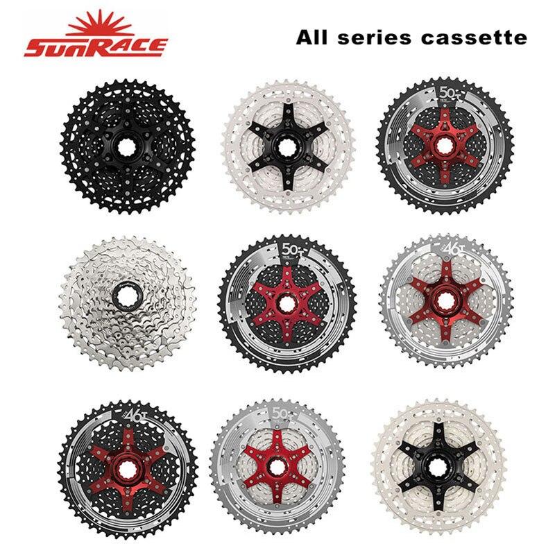 SunRace Todas As Séries Bicicleta Cassetes 9/10/11 Velocidade MTB Roda Livre Bicicleta 11-40 T/11 -46 T/11-50 T CSMX80 CSMX3 CSMS3 Volante