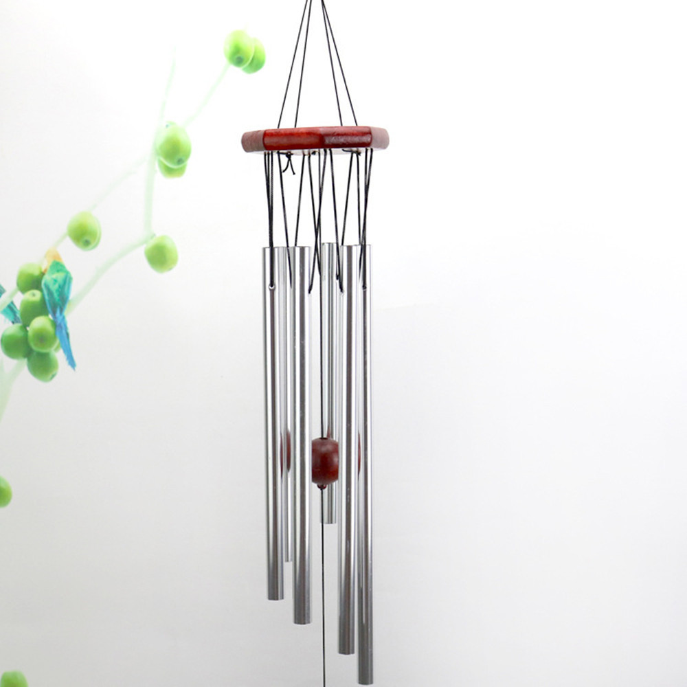 Solid Wood + Metal Home Outdoor Garden Yard Festival Decor Christmas Gifts Wind Chimes Aluminum Tubes Hanging Ornament Natale