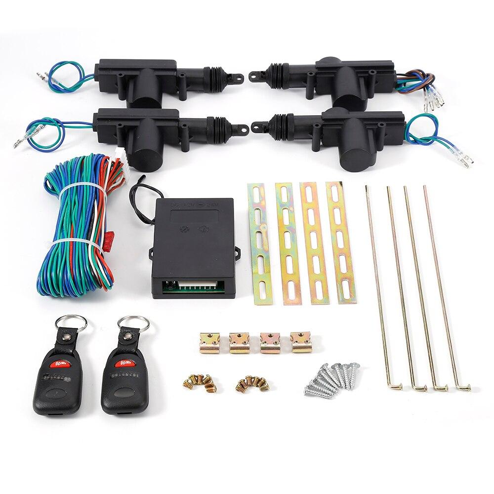 Systèmes d'alarme universels voiture Auto Kit Central à distance serrure de porte verrouillage véhicule système d'entrée sans clé système d'alarme de voiture