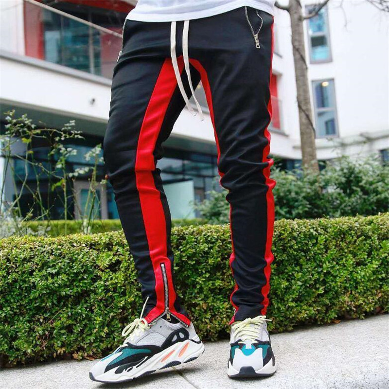 Men's Strip Fashion Jogger Pants 2019 New Casual Men's Slim Black Trousers Straight Pants Cotton Sweatpants Gymnastics Trousers