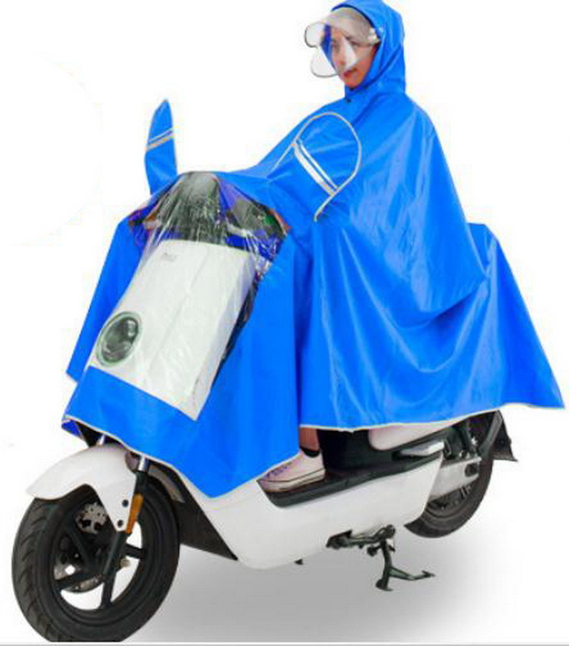Motorcycle electric car plus Big plus thick raincoat/men and women Double layer hat / Safety/ Comfortable/poncho /tb161149