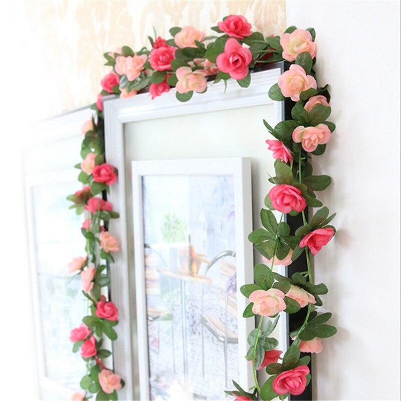 Baratos 250 cm seda falsa hiedra vid flores artificiales for Jardines verticales artificiales baratos