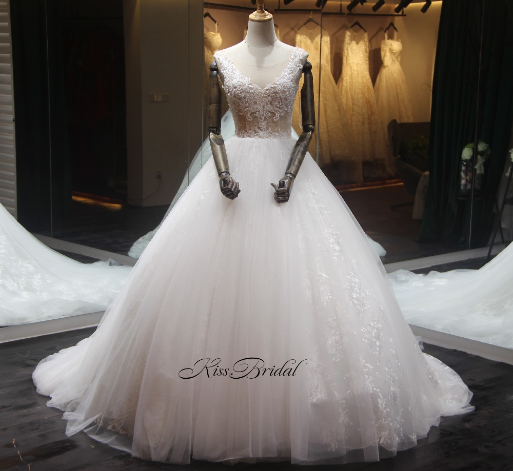 Халат de soriee принцессы Свадебное платье 2018 Совок Кепки рукавами Vestido de casamento Свадебные платья бальное платье невесты платья Casamento