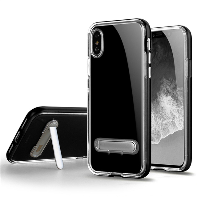 low priced d8ed6 4845d US $3.02 |SGP Spigen Crystal Hybrid Clear Soft Tpu Cell Phone Cases with PC  kickstand for iPhone X XS Max XR 8 7 6 6S plus-in Fitted Cases from ...