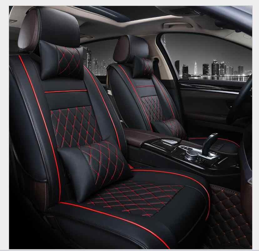 2018New Luxe Pu Lederen Auto Universele Auto Stoelhoezen Auto Seat Cover Voor Auto Peugeot 206 Voor Auto Lada Kalina in Hot