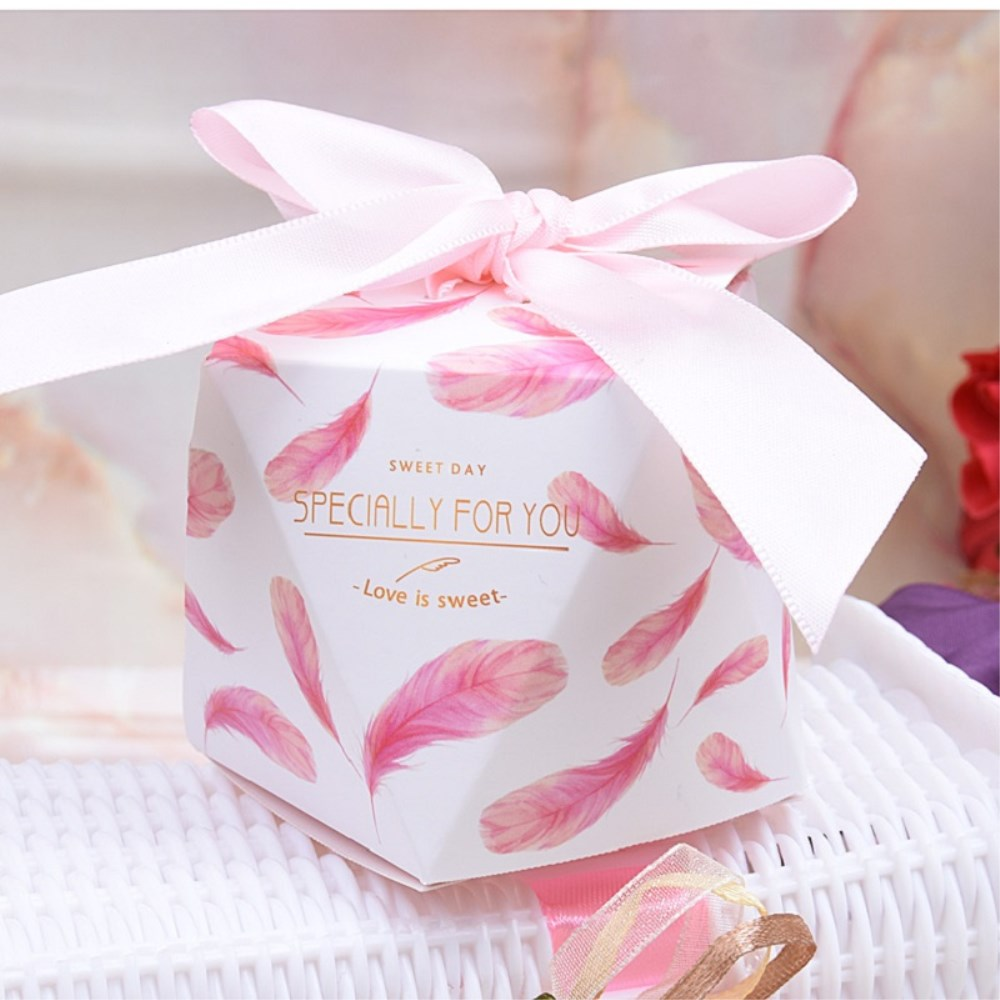 100PCS Wedding Favor Boxes and Bags Sweet Gift Candy Box Birthday ...
