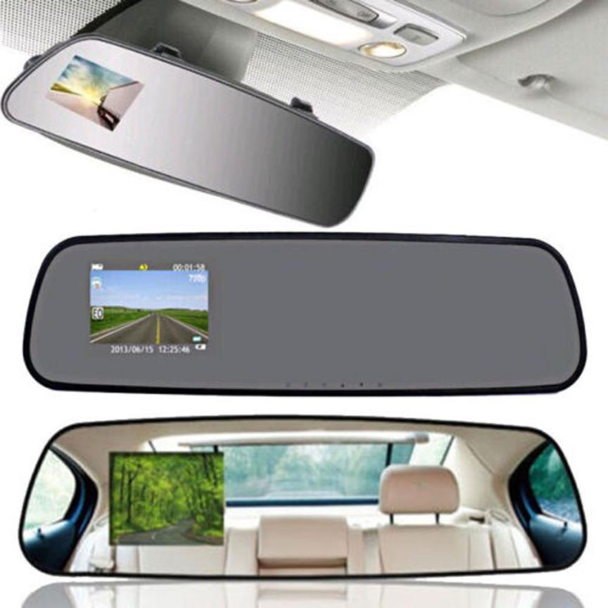 Free Shipping 2.4 HD 1080P Dash Cam Video Recorder Rearview Mirror Car Camera Vehicle DVR цена