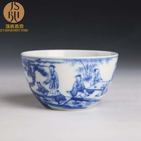 ZGJGZ Jingdezhen ceramic master cup kung fu teacup hand painted blue and white figure teacup