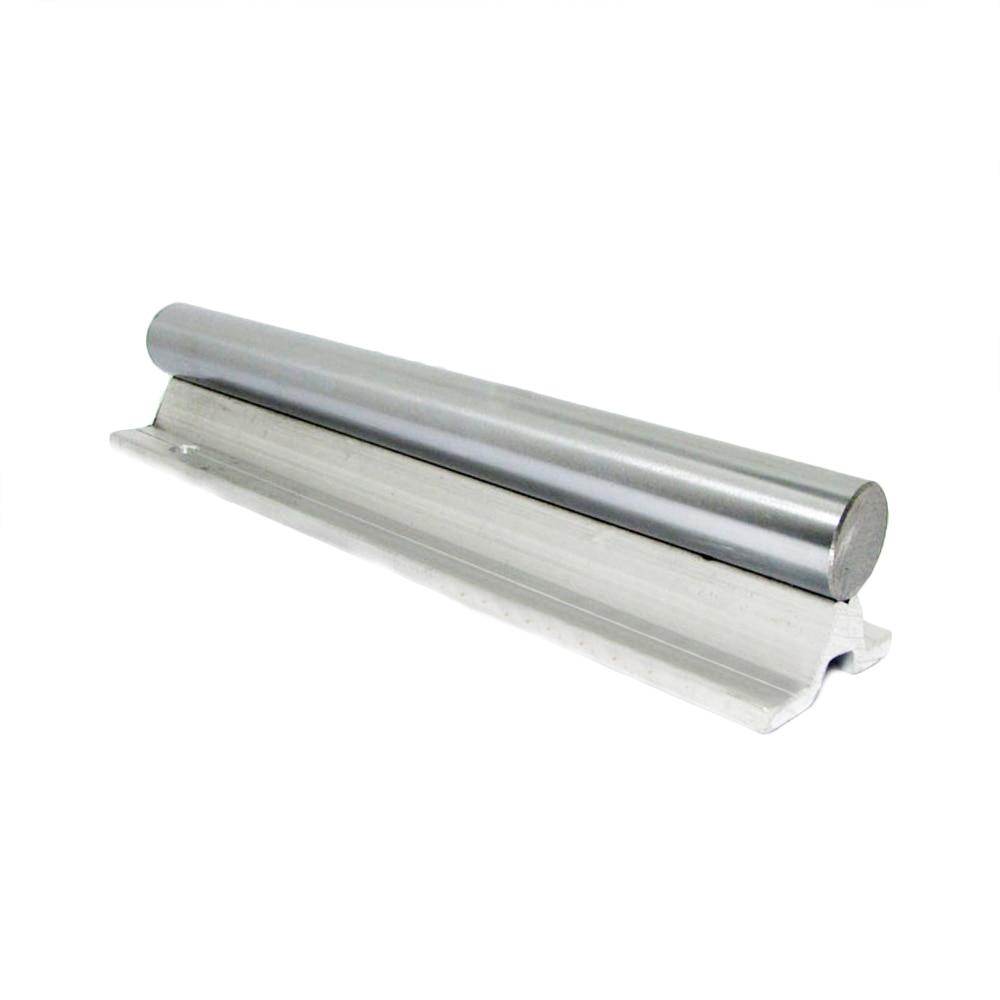 SBR12 12mm linear rail L300mm length 300mm 1pc SBR12-L-300mm linear guide cnc router 3D print part linear rail guide linearShaft 1pc sbr20 linear guide rail length 300mm chrome plated quenching hard guide shaft for cnc