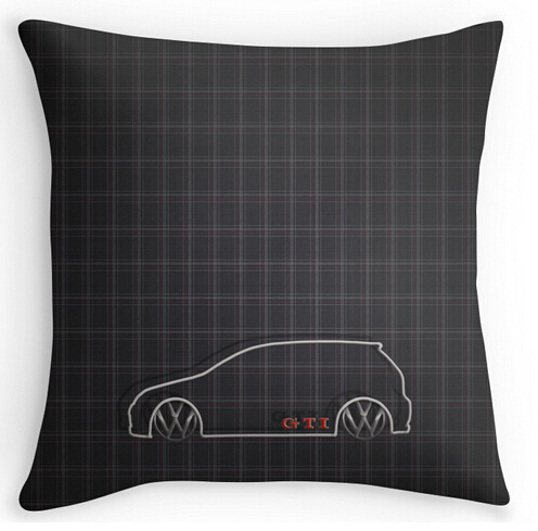 Cool Art Design GTI font b Tartan b font Pillow Cases two sides printing for 12